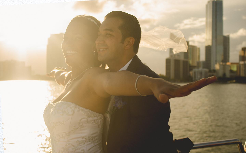 Boat Wedding Photography - Miami Beach